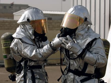 asbestos protection suit
